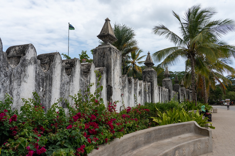 Stone wall in Stone Town