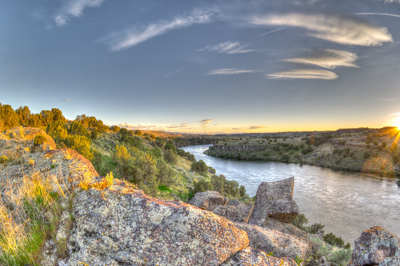 Snake River Idaho Sunset