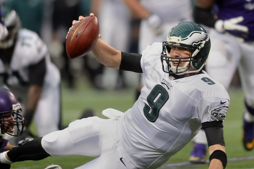 """. <p>2. (tie) PHILADELPHIA EAGLES <p>Lucky for them, the NFC East has three even lousier teams. (unranked) <p><b><a href=\'http://www.twincities.com/sports/ci_24729360/vikings-48-eagles-30-no-peterson-no-problem\' target=\""""_blank\""""> HUH?</a></b> <p>    (Pioneer Press: Chris Polydoroff)"""