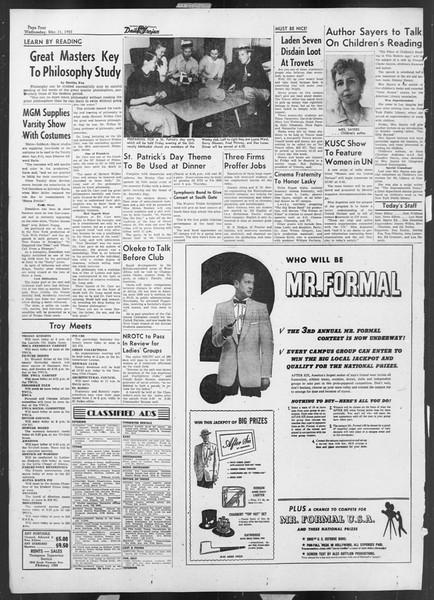Daily Trojan, Vol. 44, No. 92, March 11, 1953