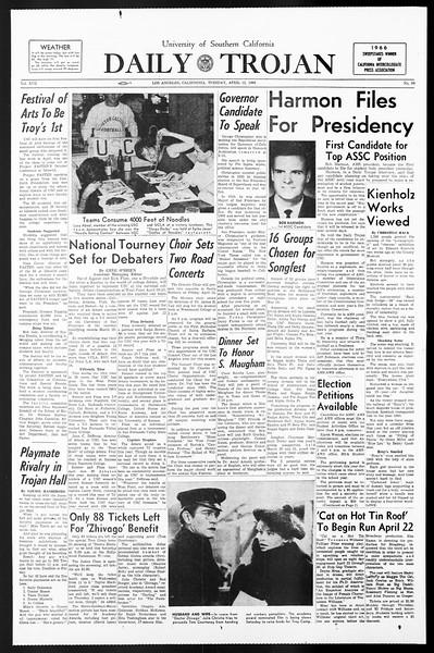 Daily Trojan, Vol. 57, No. 99, April 12, 1966