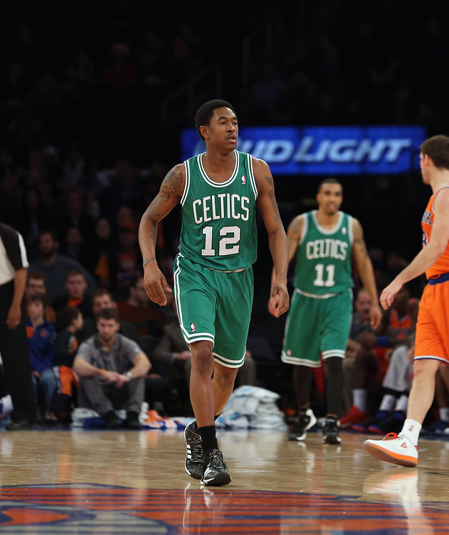 . MarShon Brooks #12 of the Boston Celtics plays against the New York Knicks at Madison Square Garden on December 8, 2013 in New York City.  (Photo by Bruce Bennett/Getty Images)
