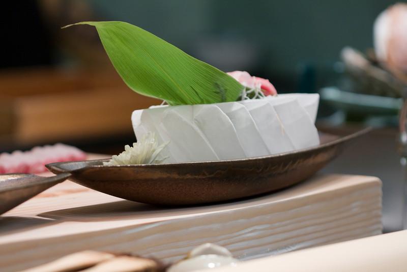 Ice sculpture with sashimi