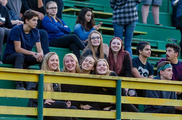 Set one: Vashon Island High School Fall Cheer and Crowd at Football v Concrete 09/15/2017