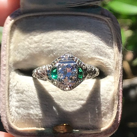 .50ct Transitional Cut Vintage Die-Struck Solitaire
