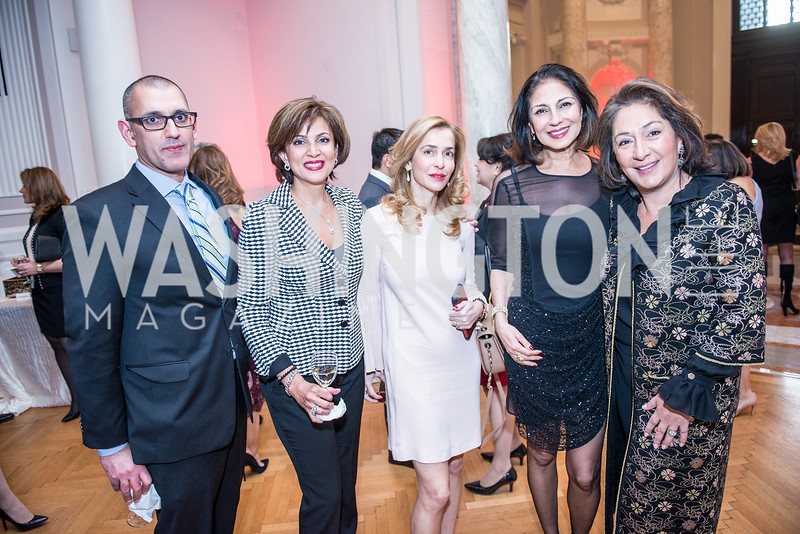 Morad Ghorban, Gazelle Hashemian, Pani Fiuzi Ghadimi, Saghi Eftekhari, Nazi Eftekhari, Iranian-American Nowruz Reception, Washington, DC, Carnegie Institute of Science, March 15, 2018.  Photo by Ben Droz.