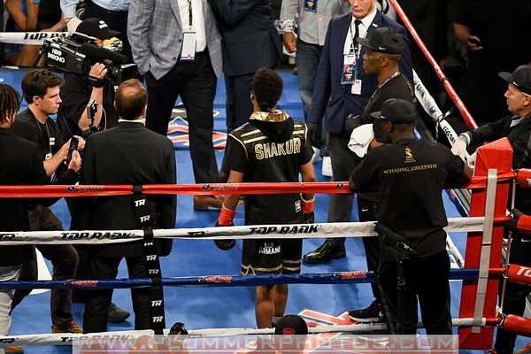 GalleryShakur Stevenson Defeats Carlos Suarez by First Round TKO
