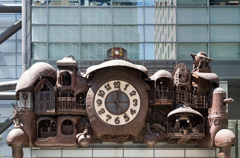 Steampunk Clock Nittele Tower, Tokyo