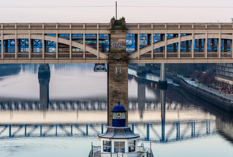 Bus on Newcastle's High Level Bridge