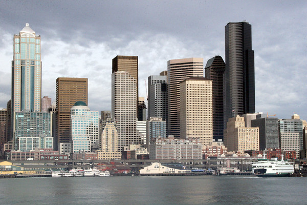 Seattle Skyline from the Bremerton Ferry