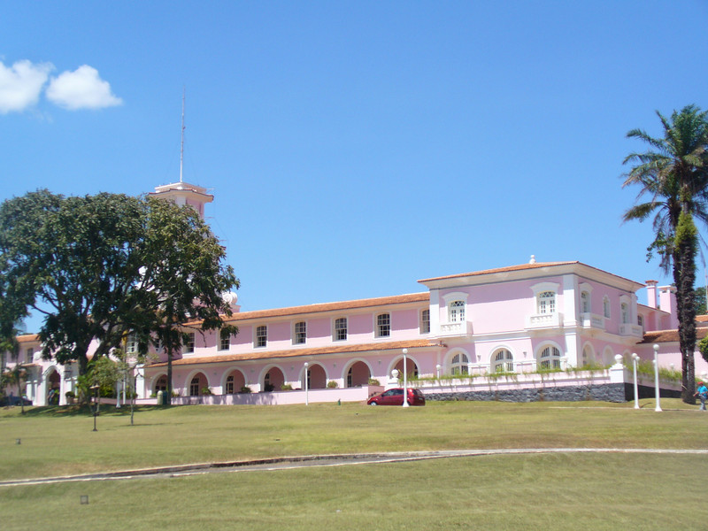 014 Iguacu Falls, Hotel Tropical das Cataracas, Pink Facade, Colonial Style.jpg