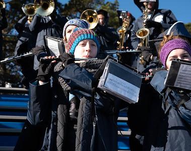 SHS band @ Thanksgiving day football game V Lenape