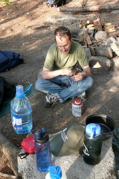 Chef, Captain, and Dishwasher. Campsite 15-82, lac Jean-Peré, La Vérendrye Wildlife Reserve