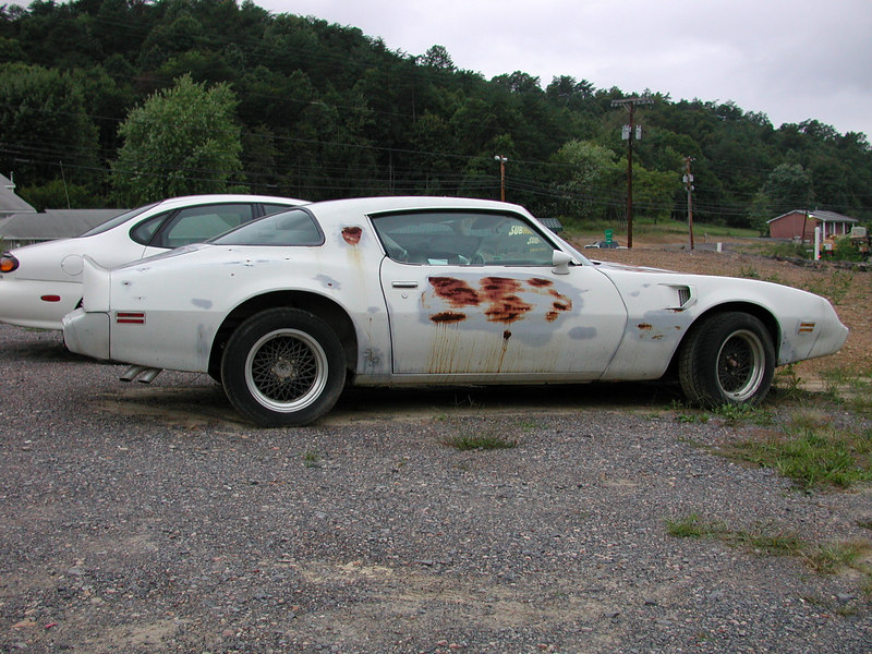 A some what rare Turbo Trans Am Pace Car sitting at a body shop in Romney waiting to be transformed into it's former glory.