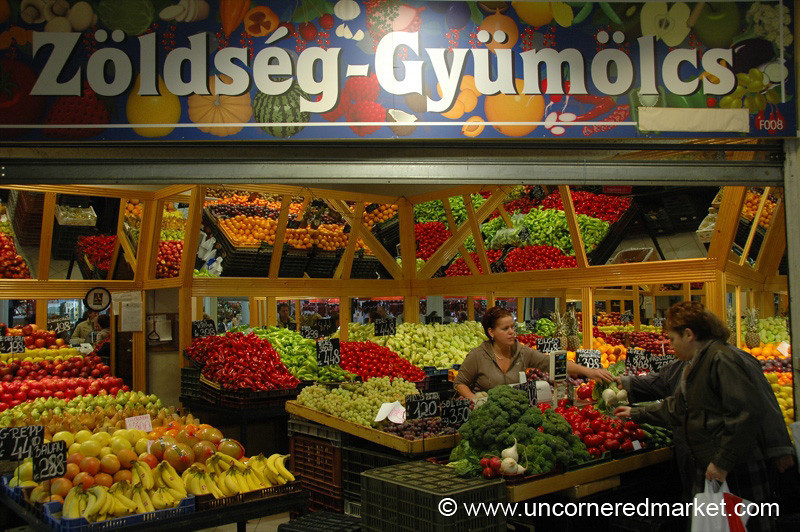 Vegetable Shopping, Lehel Market - Budapest, Hungary