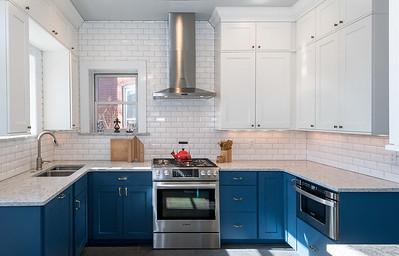 Next Project Studio - Blue and White Kitchen