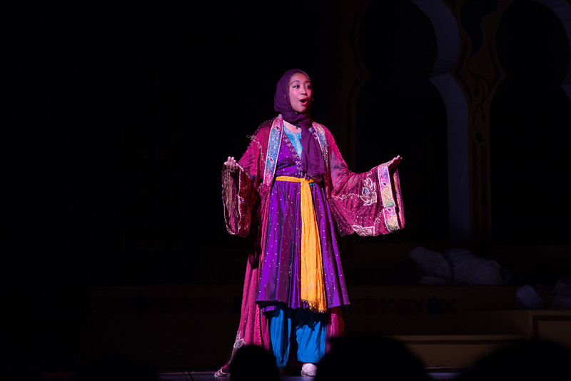 "Storyteller (""Sands of Time"") -- Kismet, Montgomery Blair High School spring musical, April 15, 2016 performance (Silver Spring, MD)"