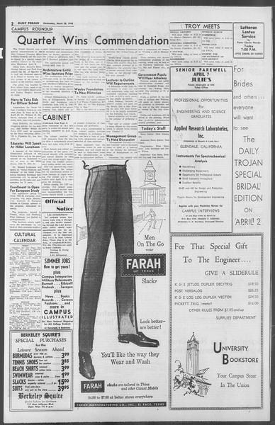 Daily Trojan, Vol. 53, No. 98, March 28, 1962