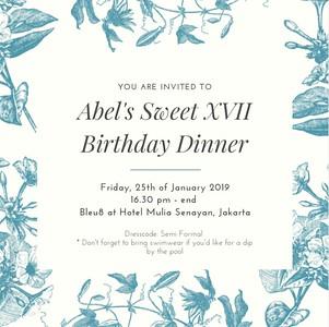 190125 | Abel's Sweet XVII Birthday Dinner