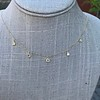 1.01ctw Trillion Rose Cut Diamond Scatter Necklace 26