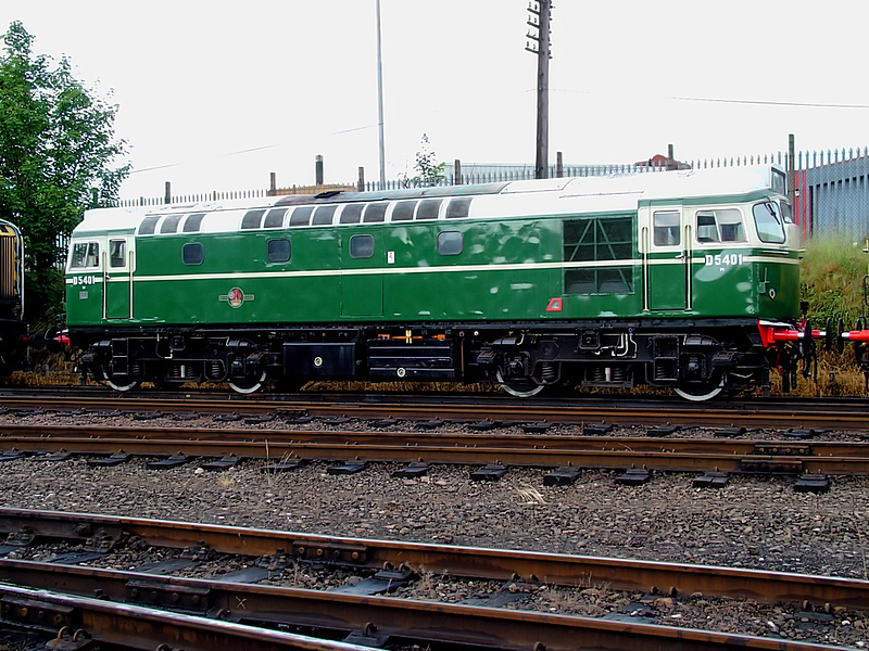 D5401 sits at Loughborough Central on the 16th June 2007