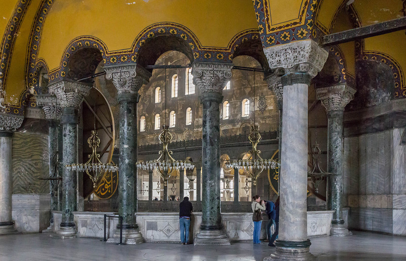 Istanbul, Hagia Sophia: Blick aus nordöstl. Emporenraum