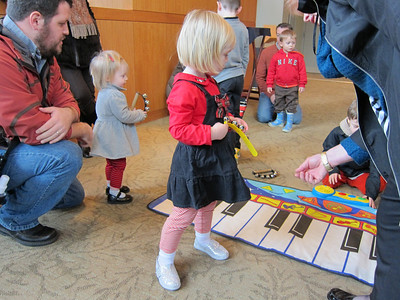 Benaroya Hall for Kindermusic Holiday and Santa, Dec. 2012