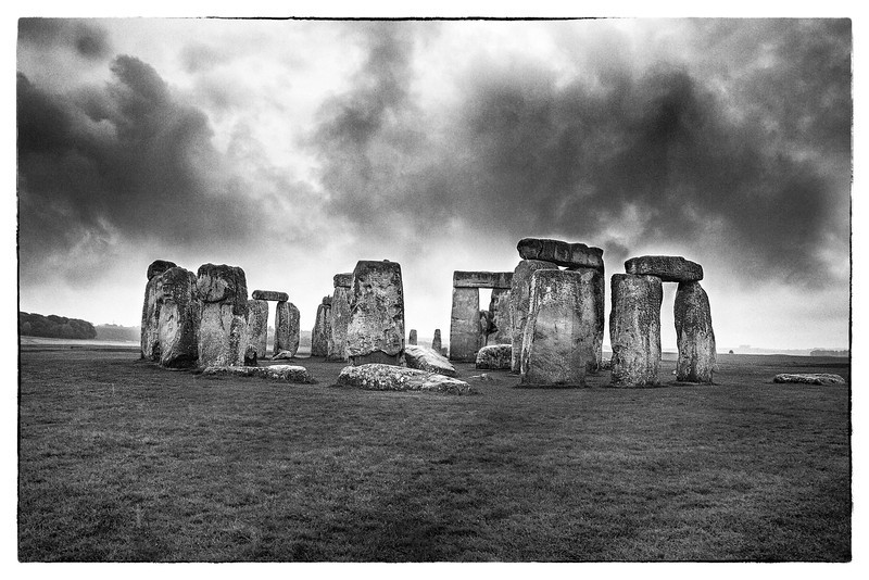 Storm clouds over Stonehenge