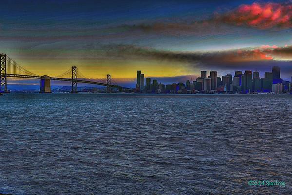 San Francisco Fog over the Golden Gate