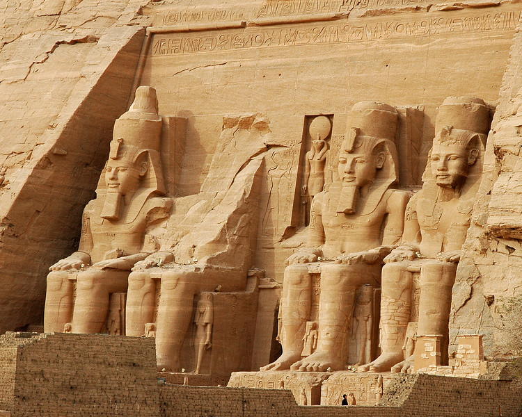 another view of the colossi of ramses II