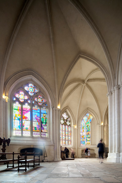 Apse of Saint-Corentin Cathedral, town of Quimper, departament of Finistere, region of Brittany, France