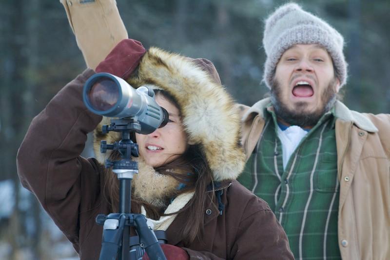 birders looking at lifer Great Gray Owl McDavitt Road Sax-Zim Bog MN IMG_1357.jpg