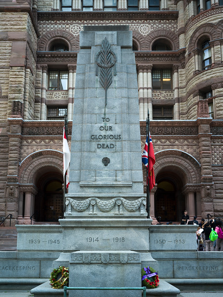 Monument outside Old City Hall, Toronto, Ontario, Canada