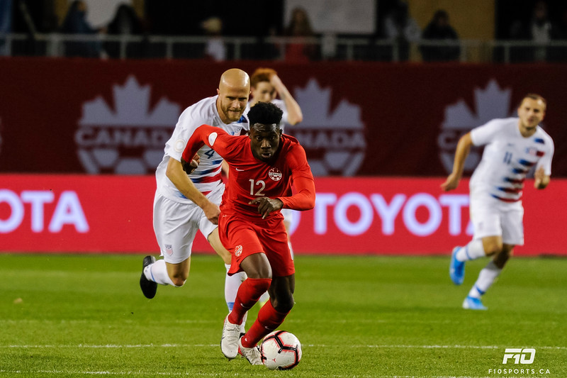 TORONTO, CANADA - Oct 15: during  CONCACAF Nations League game between Canada vs United States at BMO Field. Photo: Michael Fayehun/F10 Sports Photography