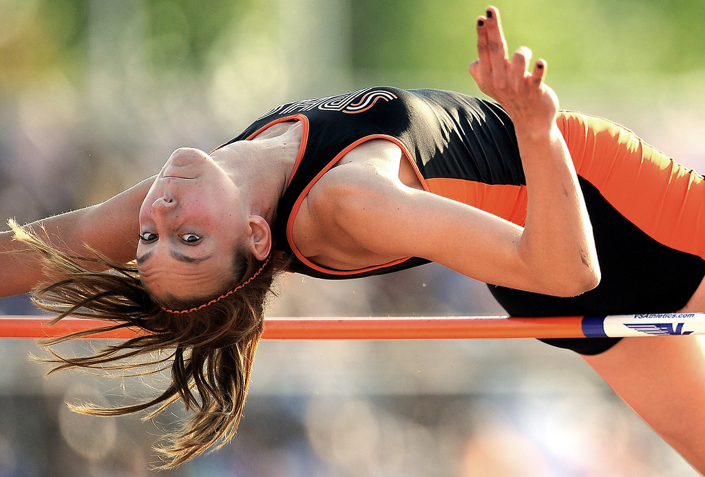 ". South Pasadena\'s Claire Kieffer-Wright won with a jump of 5\'10"" in the high jump during the Arcadia Invitational at Arcadia High School on Saturday, April 6, 2013 in Arcadia, Calif.  (Keith Birmingham Pasadena Star-News)"