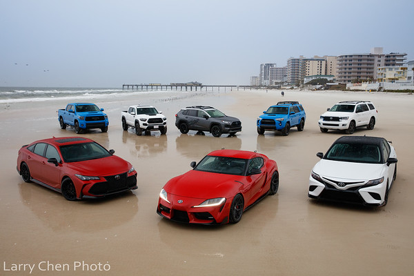 Toyotas at Daytona Beach