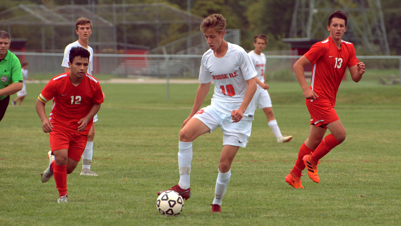 Grosse Ile headed to New Boston Huron on Wednesday night and defeated the Chiefs by a score of 5-0. Frank Wladyslawski - Digital First Media