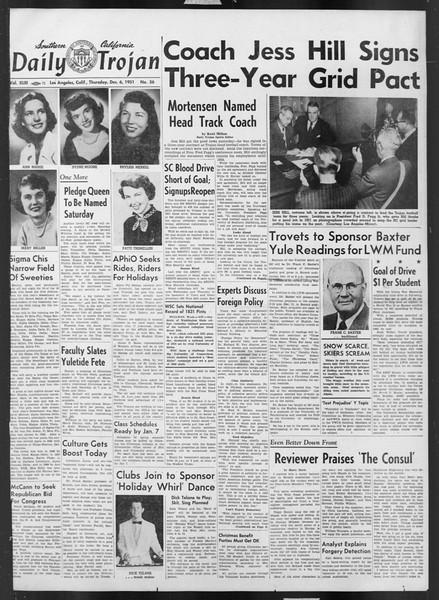 Daily Trojan, Vol. 43, No. 56, December 06, 1951