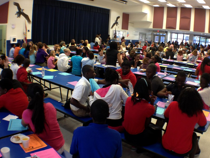 Carver Middle School honor roll breakfast