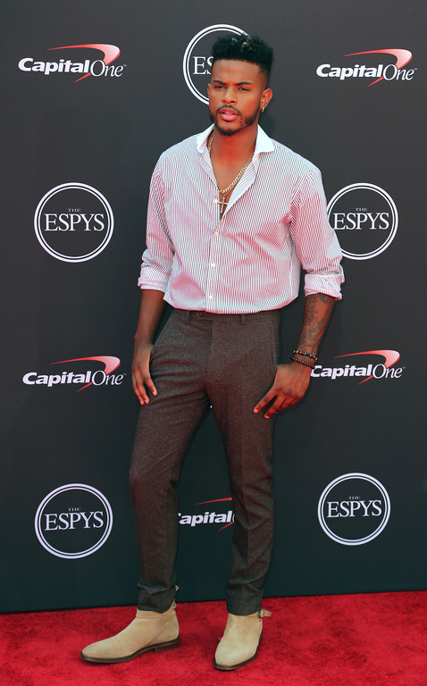 . Trevor Jackson arrives at the ESPY Awards at Microsoft Theater on Wednesday, July 18, 2018, in Los Angeles. (Photo by Willy Sanjuan/Invision/AP)
