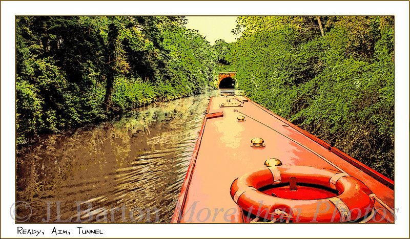 Ready, Aim, Tunnel Approaching the Dunhamstead Tunnel Worcester and Birmingham Canal