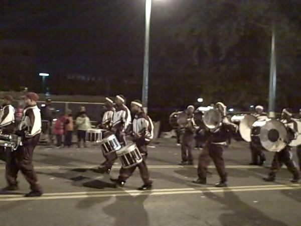 Douglass drumline, Parade.jpg