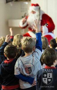 Santa Visits the TASIS Elementary School