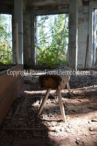 City Center Gymnasium in Pripyat, Ukraine, the abandoned town that housed workers from the Chernobyl Nuclear Power Plant.