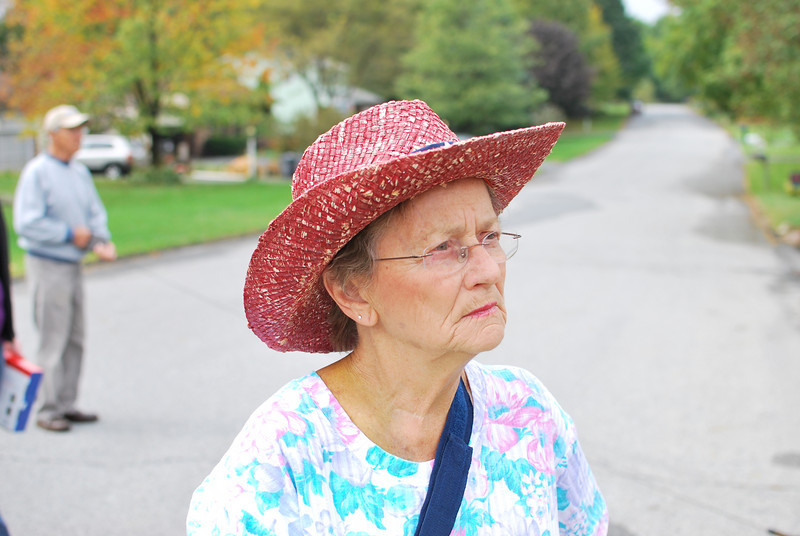 Grandma and her cool hat.