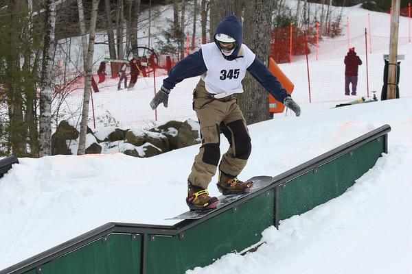 Snowboarding Rail Jam at Proctor | February 20