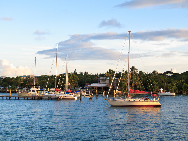 Sailboats in Red Hook Harbor, St Thomas