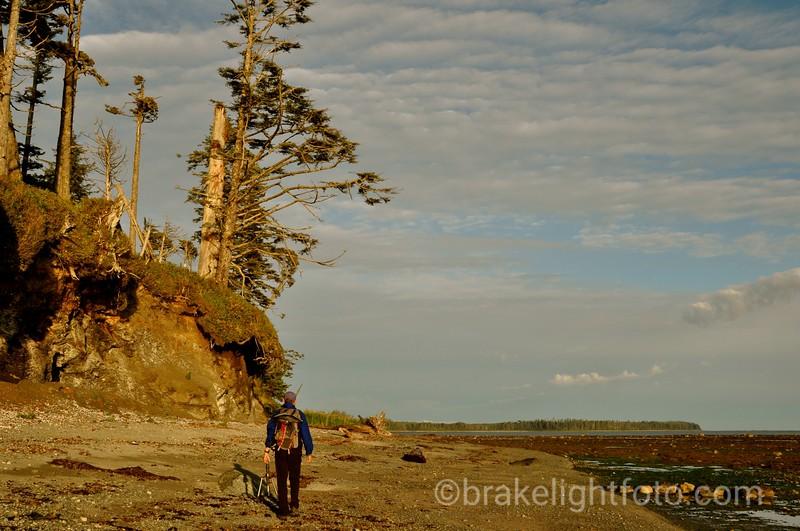 Walking the beach near Calvin Falls