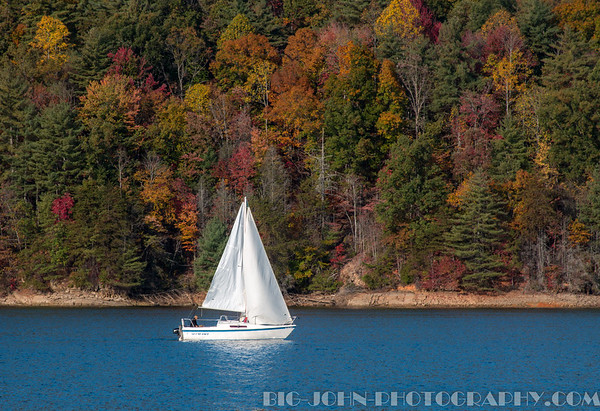 Sailing on Jocassee South Carolina Fall 2016