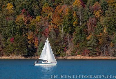 Sailing on Jocassee South Carolina Fall 2016